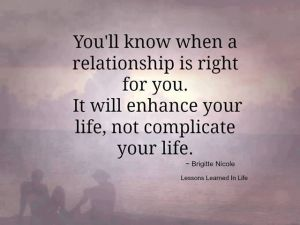 relationship is right